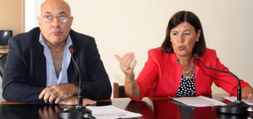 LA SOPRINTENDENTE FRANCESCA CASULE DURANTE UNA CONFERENZA STAMPA