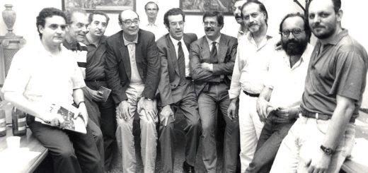 Mimmo Castellano tra i maggiori esponenti del modo sindacale della FNSI al congresso del 1992 a Pugnochiuso